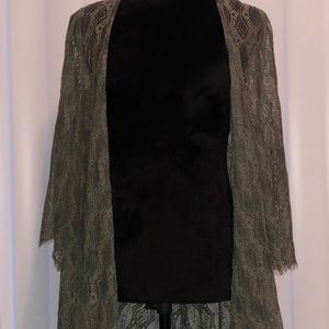 Boutique Olive green lace cardigan ✨
